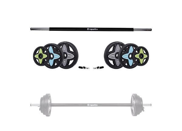 Bodypump комплект гриф + нагрузки Pumpstar 2 20 кг inSPORTline