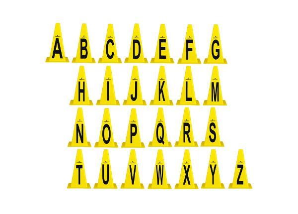 Koonuste komplekt plastikust Alphabet 23cm inSPORTline TC-160216