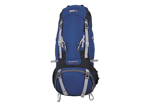 Selkäreppu High Peak Sherpa 55+10 L, sininen/tummanharmaa