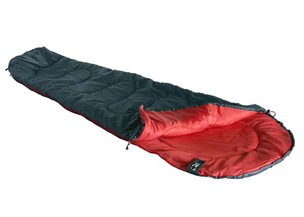 Makuupussi High Peak Action 250, tummanharmaa/punainen