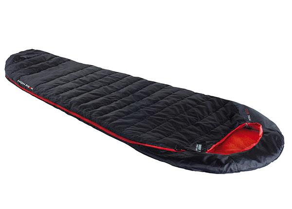 Makuupussi High Peak Pak 600, musta/punainen