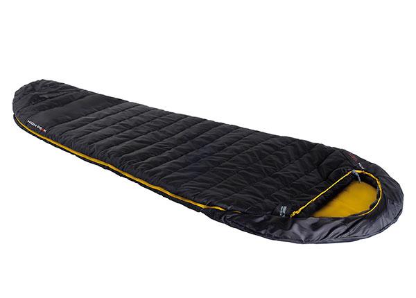 Makuupussi High Peak Pak 1000, musta/keltainen