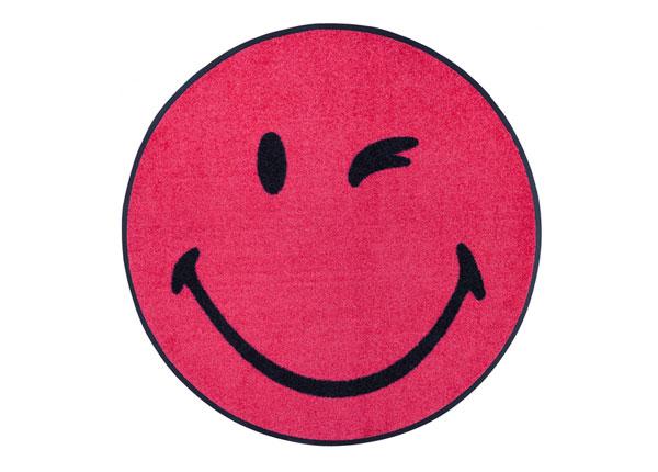 Ümmargune vaip Smiley Winky pink Ø 75 cm A5-162004