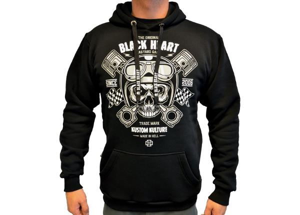 Huppari BLACK HEART Piston Skull Hood
