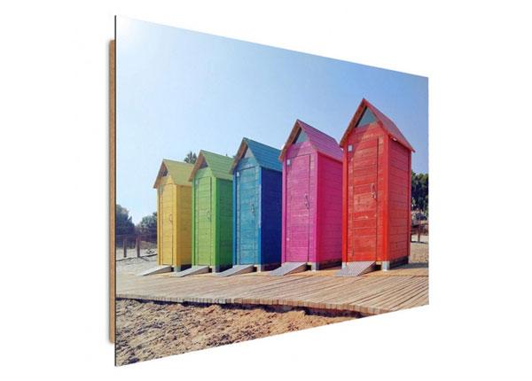 Seinätaulu Colorful booths 50x70 cm