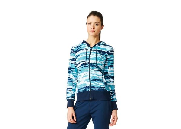 Naisten verryttelytakki adidas Essentials Hoody All Over Print W AY4877