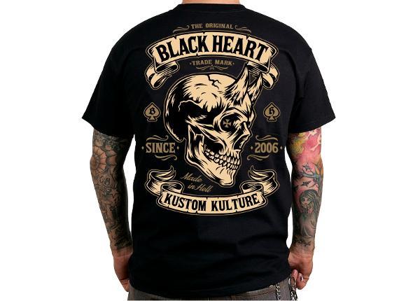 Miesten vapaa-ajanpaita BLACK HEART Devil Skull