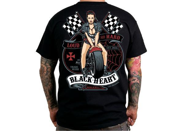 Miesten vapaa-ajanpaita BLACK HEART Loud and Hard