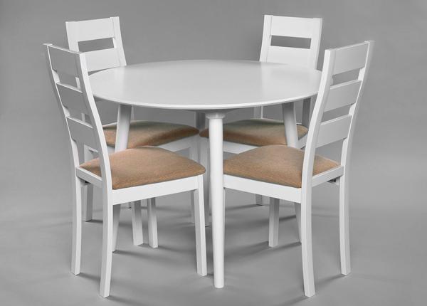Söögitoakomplekt Andria + 4 tooli Parma GO-165091