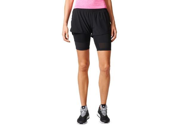 Naiste 2in1 spordipüksid Adidas
