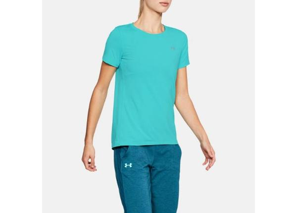 Naisten treenipaita Under Armour HeatGear Short Sleeve W 1285637-425