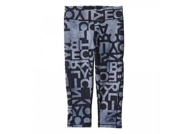 Naisten treenileggingsit Adidas 3/4 Workout Long Tight W