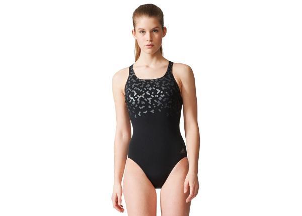 Naisten uimapuku Adidas Rubber-Printed Swimsuit W