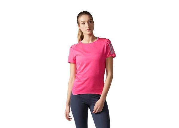 Женская футболка для бега Adidas Response Short Sleeve Tee W