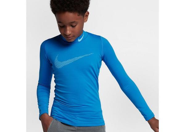 Lasten kompressiopaita Nike Pro Warm LS Mock GFX Jr