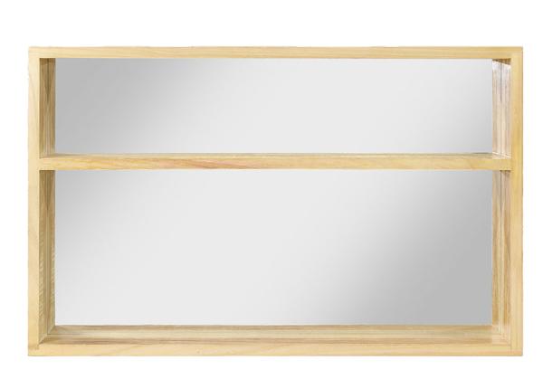 Peegel riiuliga 80x50 cm