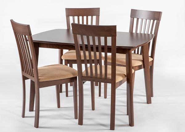Pikendatav söögilaud Bari + 4 tooli Modena, hele wenge GO-166717