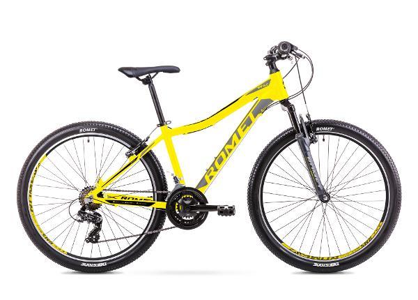Noorte mägijalgratas 17 M Rower ROMET RAMBLER R6.0 JR kollane TC-167603
