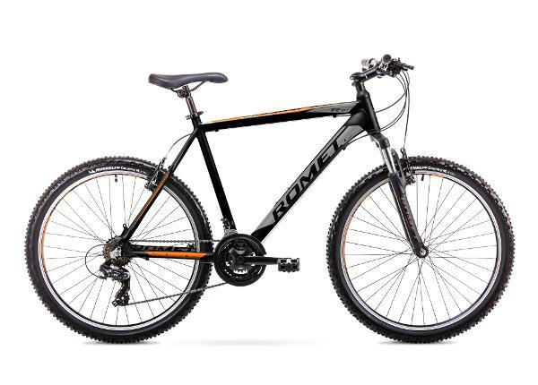 Miesten maastopyörä 21 XL Rower ROMET RAMBLER R6.1 musta-oranssi TC-167686
