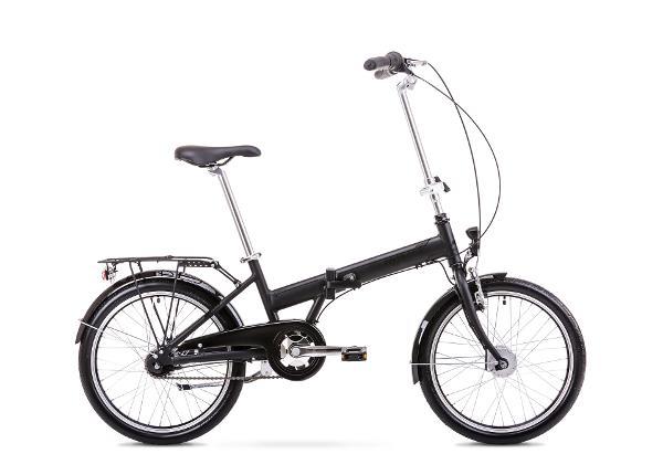 Kokoontaitettava kaupunkipyörä 11 M Rower ROMET WIGRY 4 musta-harmaa
