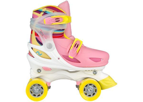 Laste rulluisud reguleeritavad Hardboot Rainbow Nijdam