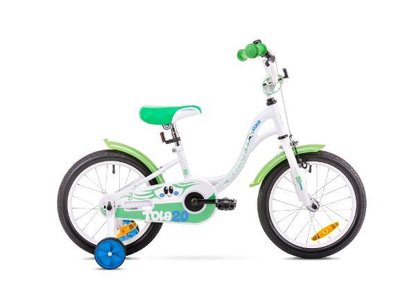 Tüdrukute jalgratas 10 S Rower ROMET TOLA 20 valge-roheline
