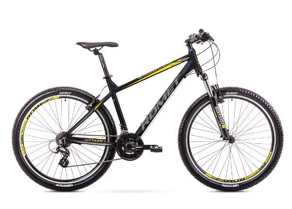 Miesten maastopyörä 19 L Rower ROMET RAMBLER R7.0 musta-keltainen