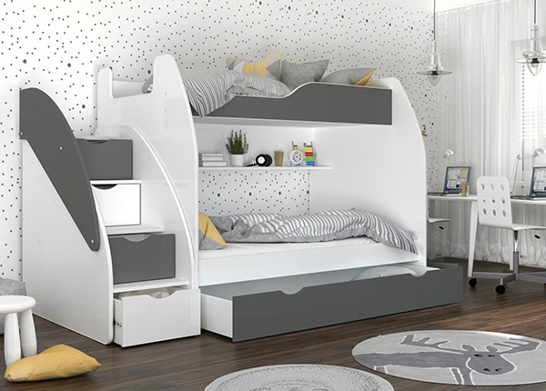 Двухъярусная кровать + матрасы 90/120x200 cm TF-168801