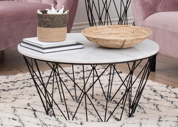 Sohvapöytä marmorilevyllä Dudley Ø 80 cm