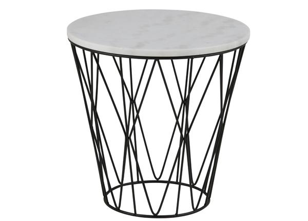 Apupöytä marmorilevyllä Dudley Ø 50 cm