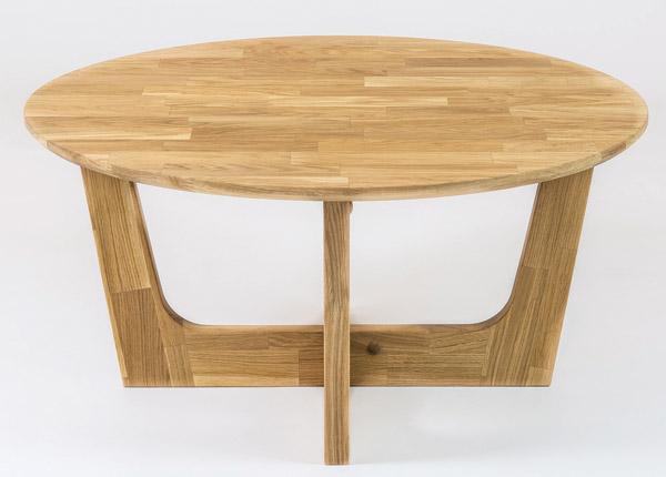 Журнальный стол из массива дуба Ø 82 cm RU-168863