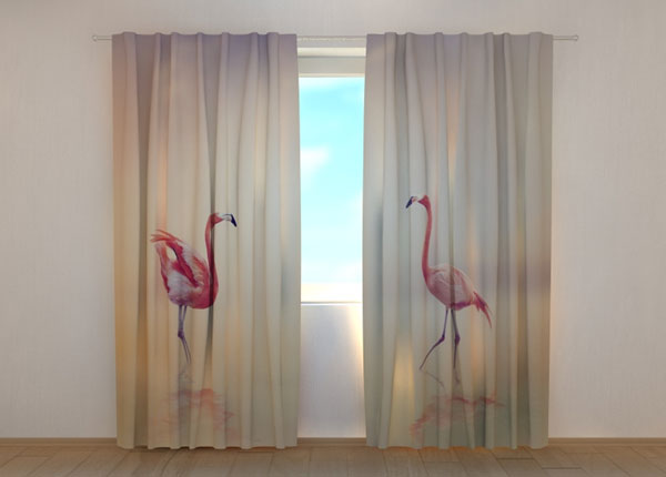Poolpimendav kardin Pink Flamingoes at Sunset 240x220 cm