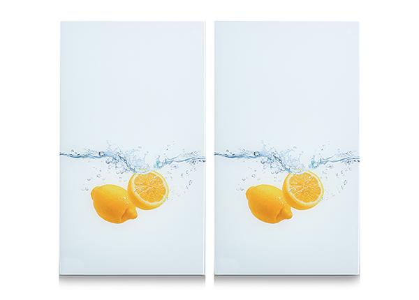 Räiskesuoja/liesisuoja Lemon Splash 52x30 cm 2 kpl