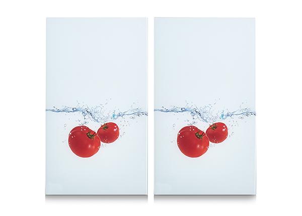 Räiskesuoja/liesisuoja Tomato Splash 52x30 cm 2 kpl