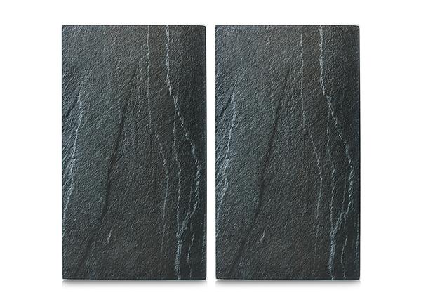 Räiskesuoja/liesisuoja Slate 52x30 cm 2 kpl