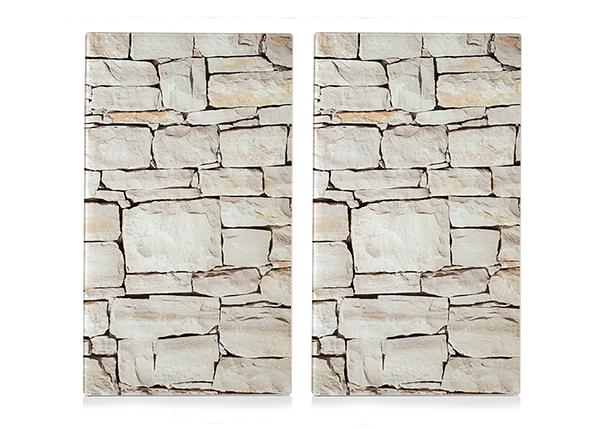 Räiskesuoja/liesisuoja Stone 52x30 cm 2 kpl
