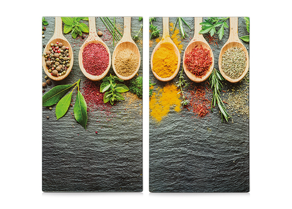 Räiskesuoja/liesisuoja Spices 52x30 cm 2 kpl