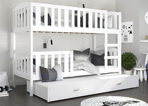 3-местная двухъярусная кровать 80x190 cm