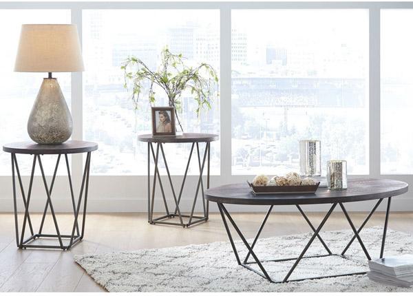 Sohvapöytä + 2 apupöytää