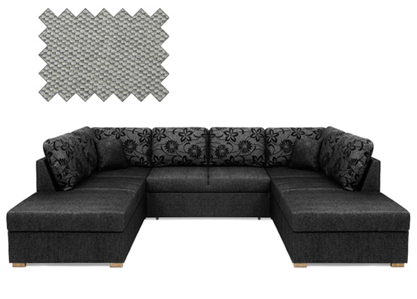 Угловой диван-кровать Silver XL с двумя ящиками