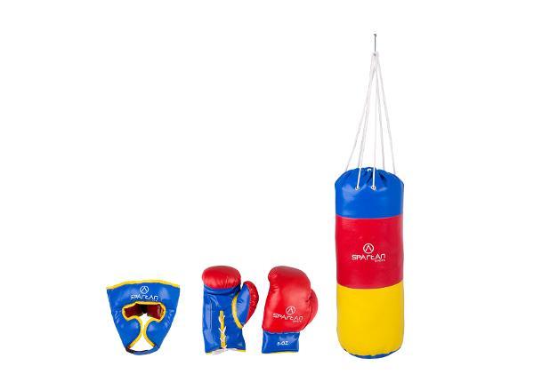 Poksikomplekt 1 kg poksikott koos peakaitsme ja poksikinnastega Spartan