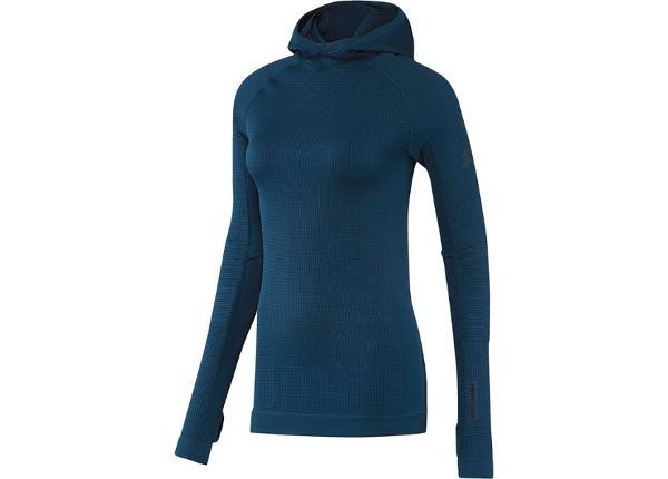 Naiste dressipluus adidas Seamless Climaheat Hooded Longsleeve W AP7347