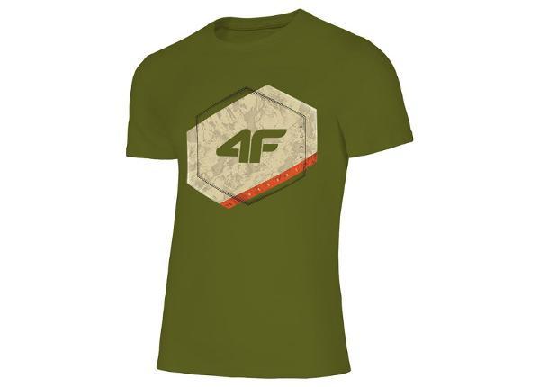 Meeste vabaajasärk 4F M H4L19-TSM010 43S roheline