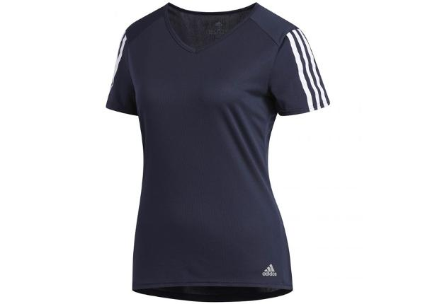 Naiste treeningsärk Adidas Run 3 Stripes Tee W