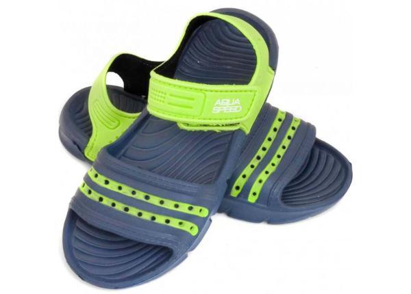 Laste sandaalid Aqua-speed Noli tumesinine/roheline