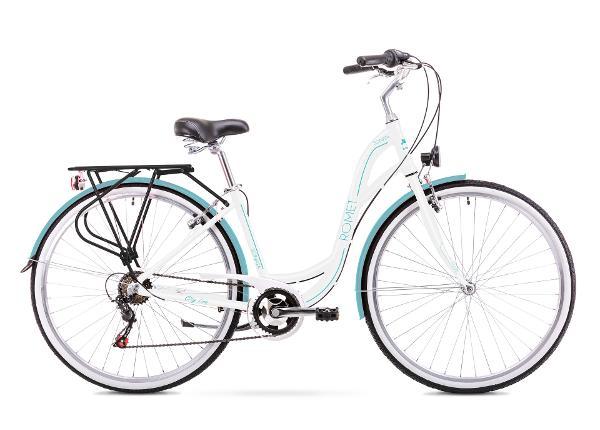 48c85a6869b ... Naiste linnajalgratas 19 L Rower ROMET SONATA 1.0 valge-sinine ...