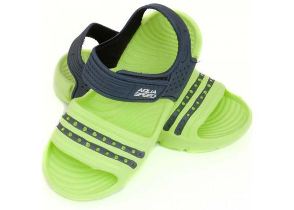 Laste sandaalid Aqua-speed Noli rohelin/sinine