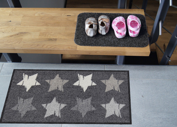 Esikumatt Wood Stars grey 30x60 cm