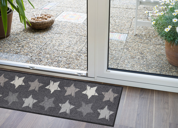 Eteismatto Wood Stars grey 30x100 cm