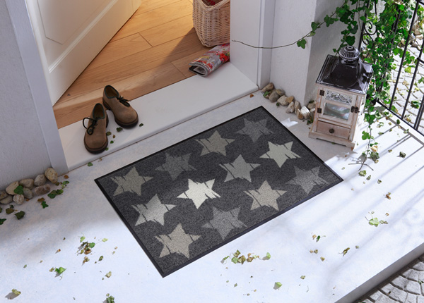 Uksematt Wood Stars grey 50x75 cm